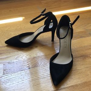 Sole Society ankle strap heel